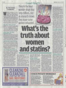 Dr David Fenton on Women and Statins in Daily Mail