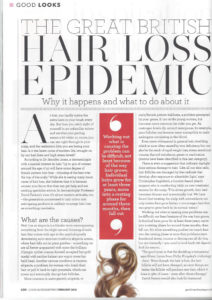 Dr David Fenton on Hair Loss in Good Housekeeping